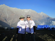 In 2010, Shirley & a friend completed a charity hike in the Himilayas