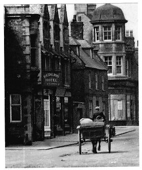 The Red Lion in Rothwell, old black and white photo