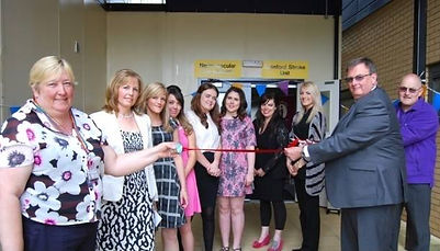 John & Shirley Newman and the team opening the new Stroke Unit at Kettering General Hospital