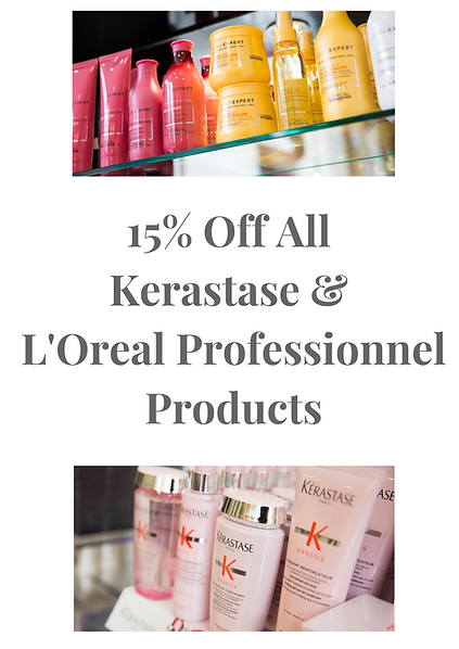 John Newman Hairdressing & Beauty Salon latest offer 15% discount off Kerastase and L'Oreal Professionnel products