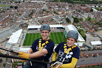 In August 2015, Chloe completed an abseil challenge down Northampton Lift Tower, raising an amazing total of £1134