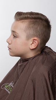 Boys hair cut and styling