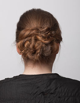 Ladies hair up updo