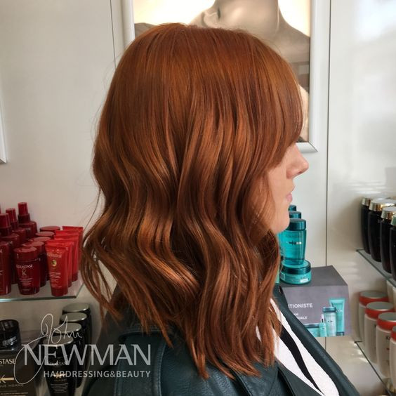 Deep copper hair