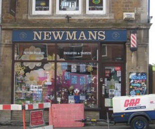 Newmans stationary/card shop, hair salon and barbers Rothwell, Northamptonshire