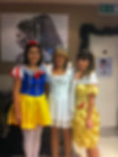 Lorin, Chloe & Natalie in Disney fancy dress for the KGH Little Extras Appeal