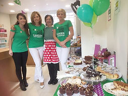 Natalie, Shirley and Chloe at our 2016 Macmillan Coffee Morning
