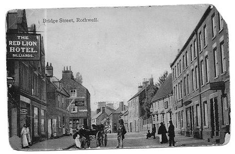 Black and white photo of Bridge Street, Rothwell, Northamptonshire