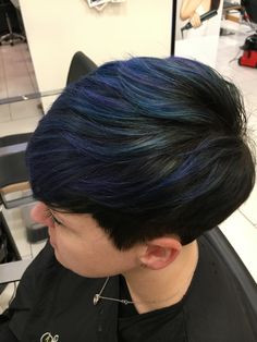 Blue Colorful Hair