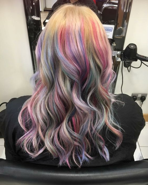 Pink, blue, purple Colorful hair