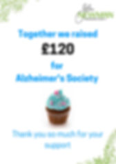 Together we raised £120 for Alzheimer's Society