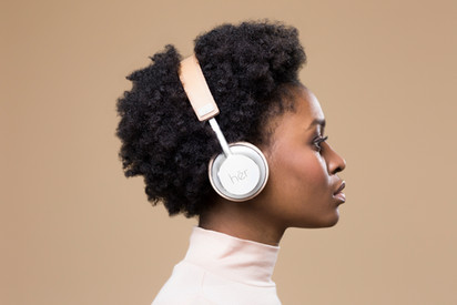 her headphones
