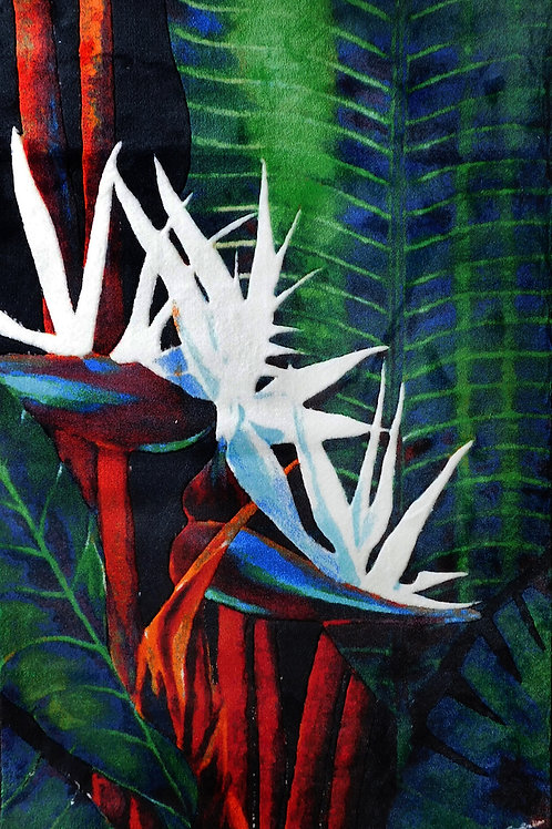 8' x 11' Area Rug - Bird of Paradise