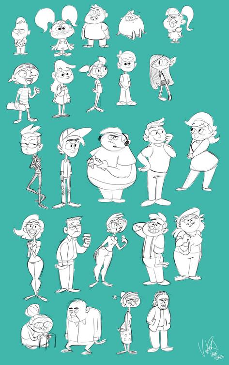 Cartoony Character Designs - Vanessa Flores