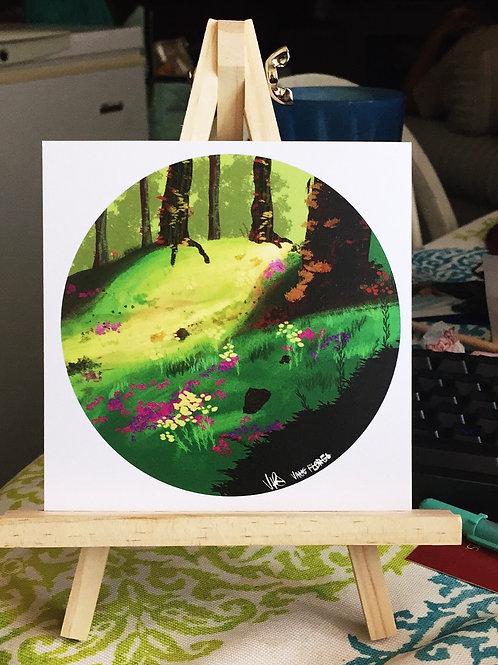 Shimmer Forests Forest Print
