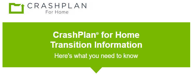 ALERT: Your CrashPlan for Home service will be discontinued