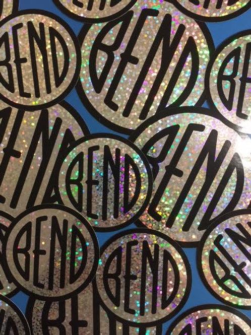 Round Bend Sparkle Stickers