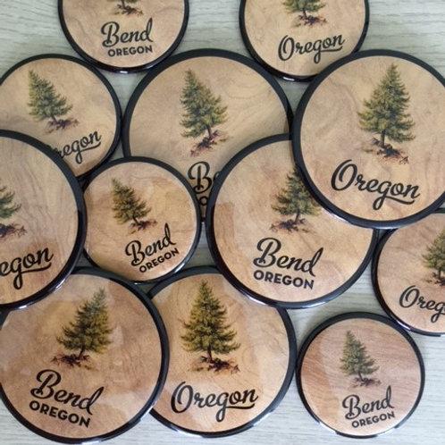 Bend Oregon Pine Tree Magnets