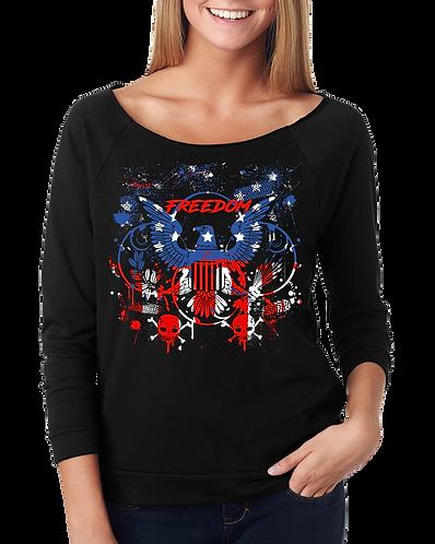 Women's Freedom Eagle (Terry 3/4 Slv Raglan)