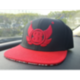 Somethin Brooklyn Red & Black Snapback