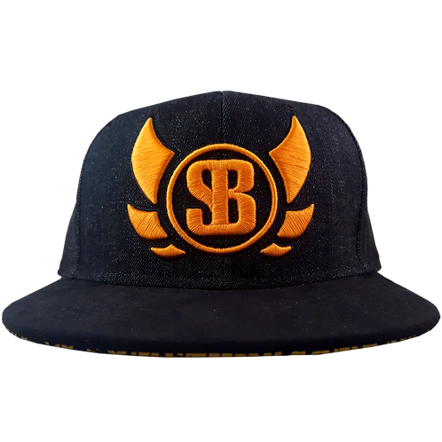 Black Denim/Suede/Gold Snapback