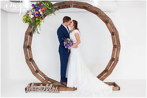 Wood Circle Wedding Arch