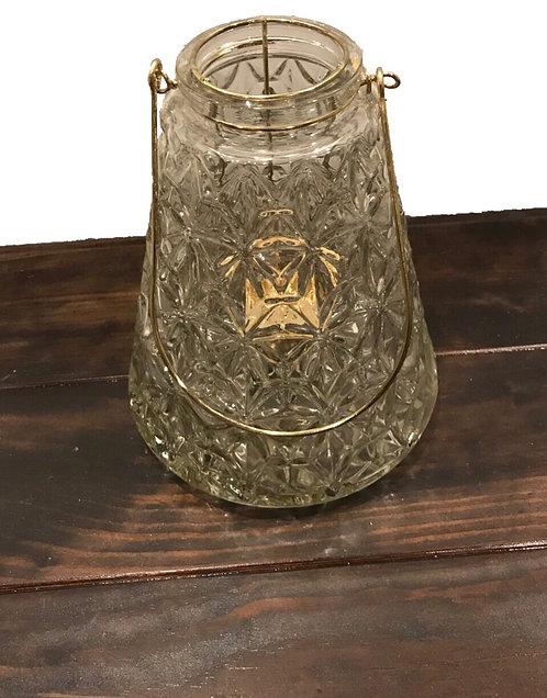 Glass & Gold Lanterns (Round and Pyramid)