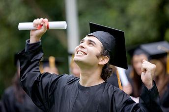 happy graduation student full of success