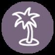 パームツリーのアイコン - パープル