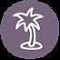 Palme Icon - Lila