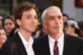 "Nic Sheff & David Sheff at London Film Festival screening of ""Beautiful Boy""."