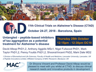 CLINICAL TRIALS ON ALZHEIMER'S DISEASE 2018, BARCELONA
