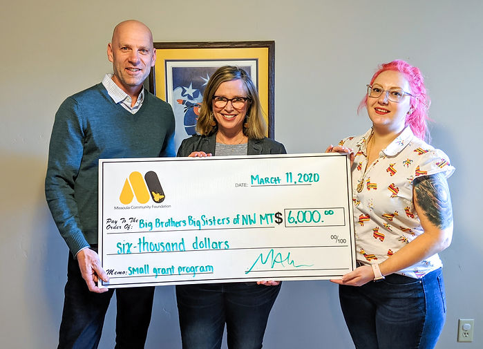 Missoula Community Foundation - Small Grant Program - Big Brothers Big Sisters NW Montana