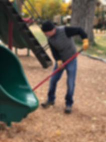 Big Brothers Big Sisters of Flathead County Cleanin Baker Park in Whitefsh, MT