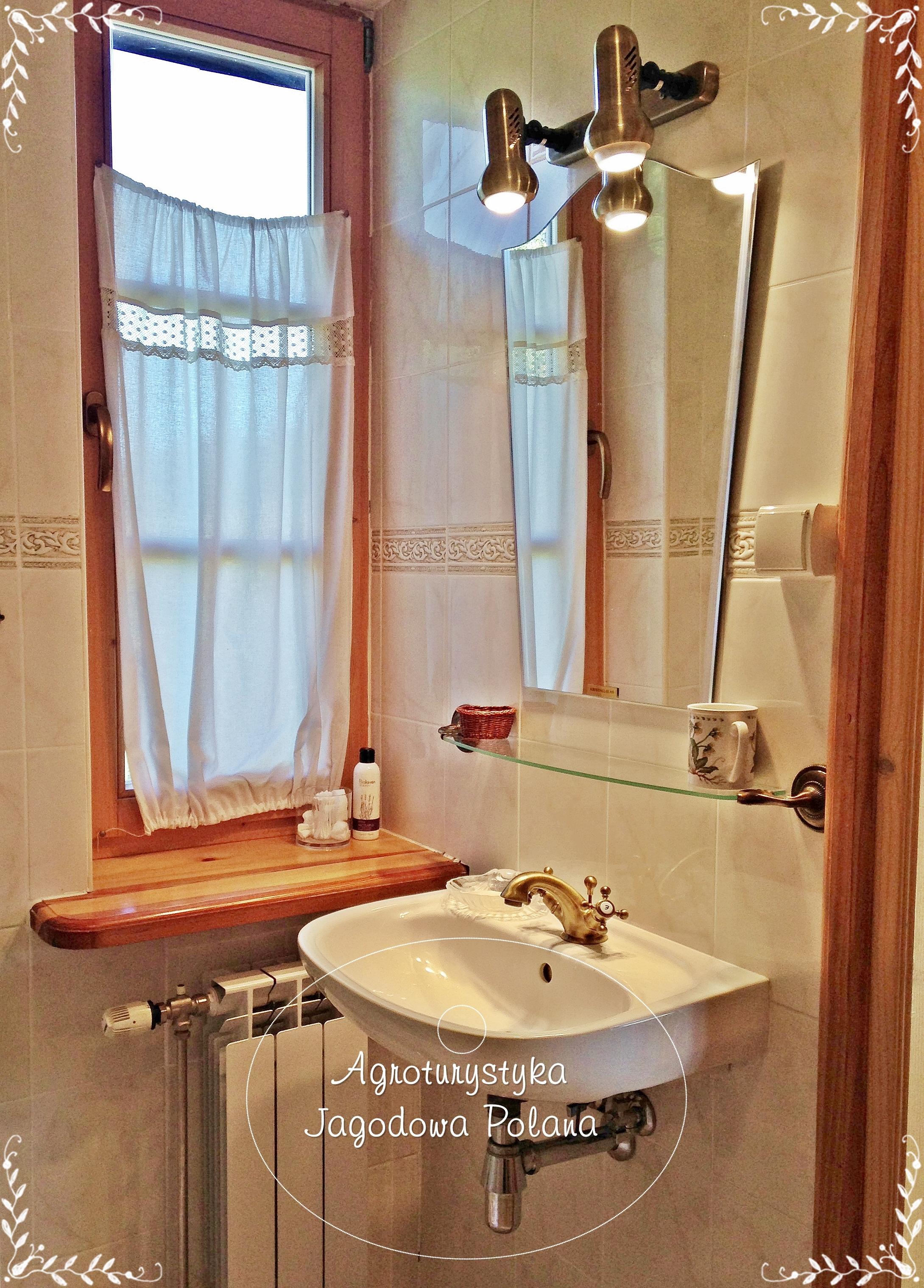 łazienka sypialni myśliwskiej