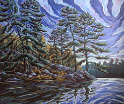 Pompadour Island Pines