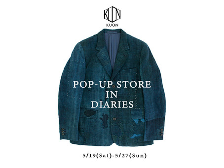KUON POP-UP STORE in diaries