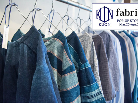 KUON POP-UP STORE at fabric
