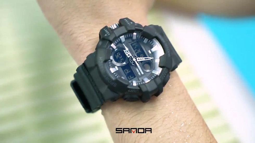 SANDA  Luxury Watches Men Military Army Watch Waterproof