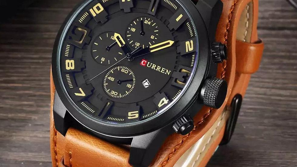 Luxury black commando style watch