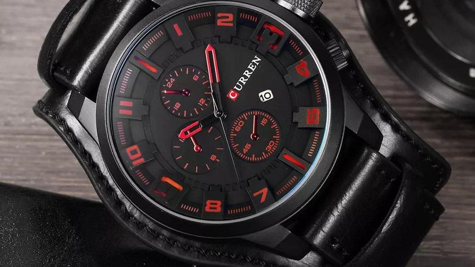 Luxury red commando style watch