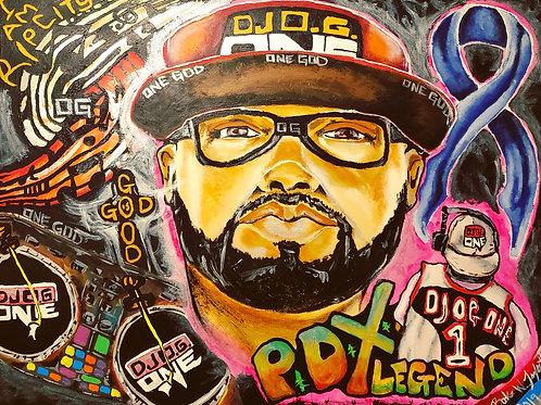 """THE REVOLUTIONIZE PORTRAIT OF DJ O.G. ONE"" 11""x17"" print"