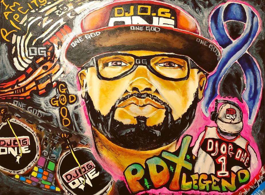 """""""THE REVOLUTIONIZED PORTRAIT OF DJ O.G. ONE"""""""