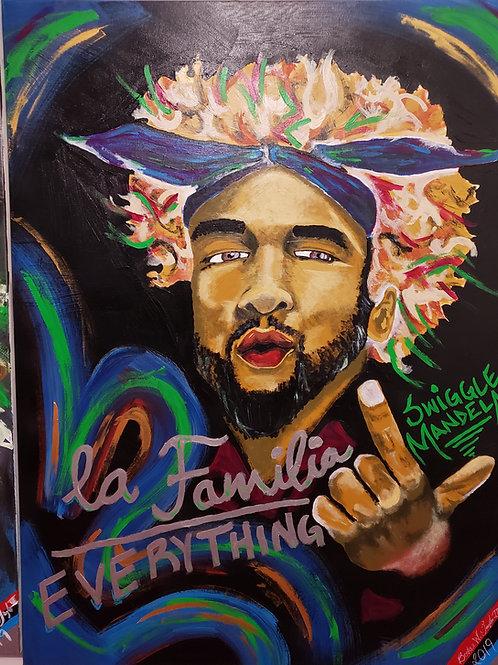 """""""THE REVOLUTIONIZE PORTRAIT OF SWIGGLE MANDELA"""" 11""""x17"""" print"""