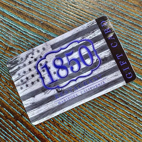 1850 Gift Card