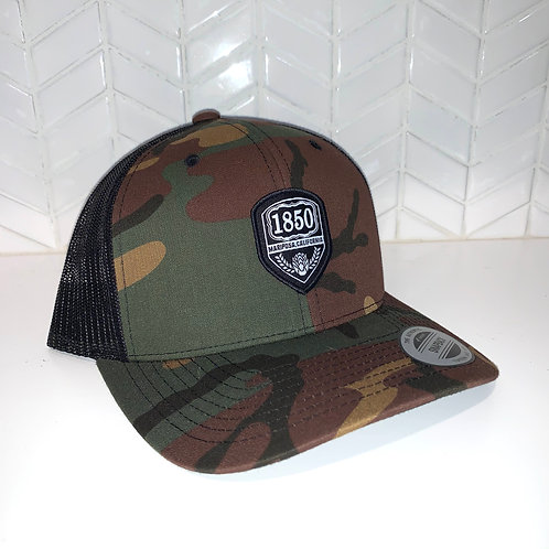 1850 Yupoong Camo Classic Curved Bill Snapback
