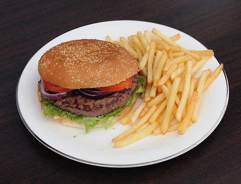 #63: Cheeseburgertallerken, 300 g.
