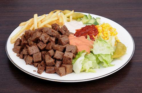 #82: Kebabtallerken med pommes frites