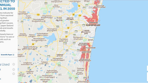 CHENNAI AND OTHER CITIES AFFECTED BY SEA LEVEL RISE BY 2050