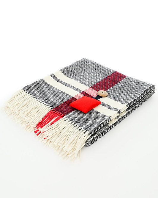 Herringbone Blanket - Navy